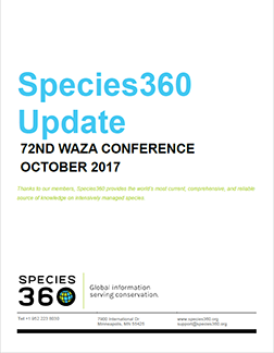 Species360 Update At WAZA 2017