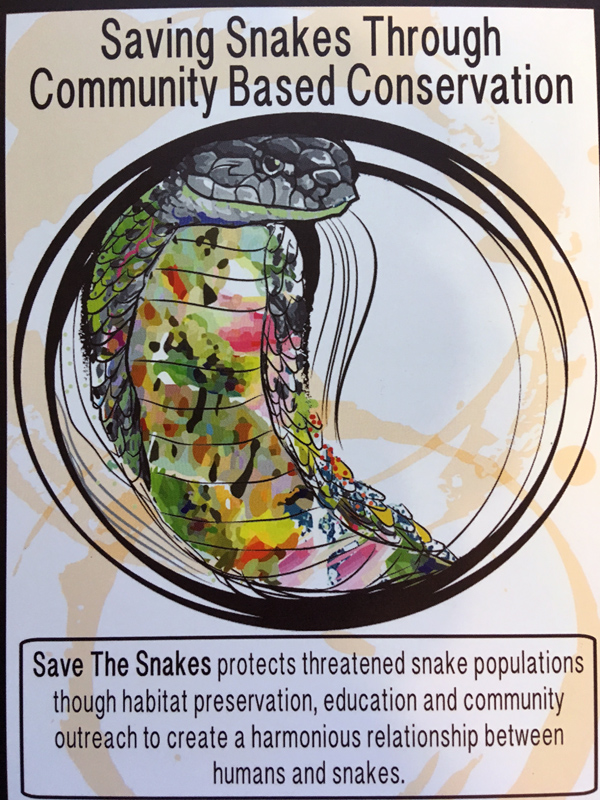 Art by Christina Ward for Save the Snakes