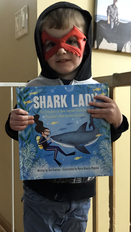 James with Shark Lady book