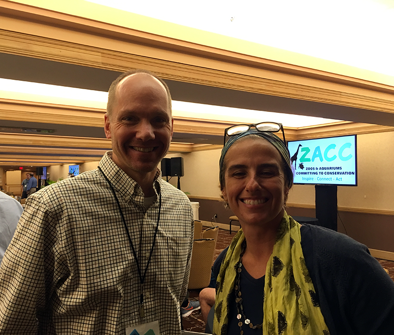 Species360 CEO, Jim Guenter, with Patricia at the ZACC conference (Photo by Julie Yamamoto)